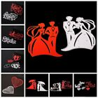 Valentines Day Metal Cutting Die Stencil Kiss Lover Paper Embossing Craft Heart