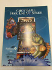 Fish Tales Williams 1992  Pinball NOS ORIGINAL ARCADE GAME FLYER CLASSIC