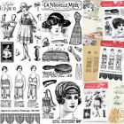 Elegant Lady Transparent Silicone Clear Rubber Stamp Sheet Cling Scrapbook DIY