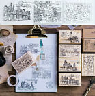 Travel Castle Series Wooden Mounted Rubber Stamp Making Diary Decoration Diy