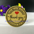 240 Round Paper Labels Thank you Hand made with love Gift Food Craft Stickers