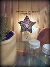 Primitive Country Punched Tin Star Night Light 4 3/4