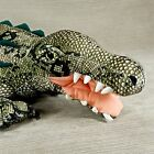 Crocodile 28 Plush Stuffed Gator w Vinyl Teeth Felt Claws Fiesta Animal