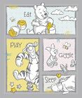 Disney Winnie the Pooh Nursery 65156 Eat Play 100 Cotton fabric by the panel