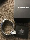Wenger Roadster White Dial Stainless Steel Men's Watch 010851107 $170 NWT