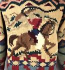 VTG Rare Polo Ralph Lauren Hand Knit Wool Sweater Cowboy Indian KANYE WEST M