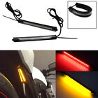 2pcs Switchback R/A LED For Motorcycle Fork Rear Turn Signal Brake Lights Strips
