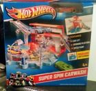 NEW Hot Wheels Team Hot Wheels Super Spin Carwash Car Playset 1 Vehicle Included