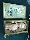 Antique Bisque Rose ONeill Kewpie Doll Jointed Arms Germany Heart Label  5