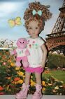 Outfit FITS Dianna Effner 13 Little Darling Dolls=Skirt Tunic Pink Monkey = NEW
