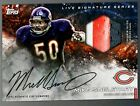 Mike Singletary Topps Huddle Digital Live Sig Relic Auto patch 35cc