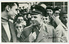GAGARIN MEETING PEOPLE AUTOGRAPHED PHOTO REPRINT COA
