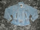 Vintage Versace Jeans Couture Denim Jacket Cinch Waist Bow Back Size Small