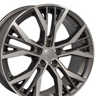 18 Wheels Fit VW GTI Jetta EOS CC Passat Gunmetal Machd Rim 45 W1X SET
