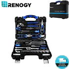 65 Pcs Home Repair Hand Tools Kit with Case Renogy Household Tool Set Toolbox US