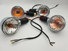 4X ROYAL ENFIELD BULLET ELECTRA CHROME INDICATOR CLEAR GLASS AMBER BULB BLINKERS