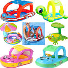 Baby Kids Swim Ring Inflatable Toddler Float Swimming Pool Water Seat w Canopy