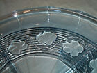 's Avalon Blue Glass 4-Part Serving Platter/Tray by Anchor Hocking.