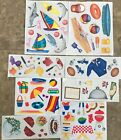 8 sheets of Creative Memories stickers picnic pool beach food paint rugby