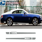 2x Car Side Light Grey Long Stripe Decoration Sticker DIY Waterproof Vinyl Decal