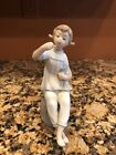 "Lladro 1083 "" Girl With Lipstick & Doll "" Porcelain Figurine Retired"