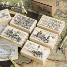 Travel Castle Series Wooden Mounted Rubber Stamp Making Diary Decoration 2018