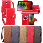 Luxury Shockproof Magnetic PU Leather Waallet Flip Case Cover For Lenovo A2010
