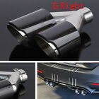 63MM Car Exhaust Dual Pipe Muffler Tail Throat Carbon Fiber + Stainless Steel