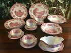 JOHNSON BROS ENGLAND OLD BRITAIN CASTLES RED - 22 Parts Dinner Service 6 persons