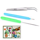3pcs Paper Set Quilling Paper Tools Tweezer Needle Pins Slotted Pen Tool Kit HL
