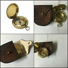 Classic Gift Pocket Antique Brass Compass American Boy Scout Vintage Collectible