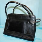 Vtg~1940s-50~GAITAN~BLACK LEATHER~Shoulder Bag~MEXICO~Black Pony Hair~Purse