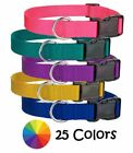 Nylon Dog Collar Harmon Mae Pups Made in USA 25Colors 8Sizes PuppyAdjustable