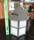 Antique Copper lamp Lantern Hand made with Capiz Shell Vintage Light WORKING