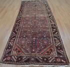 3'8x11'3 Genuine Semi Antique Persian Hamadan Mahal Hand Knotted Wool Rug Runner
