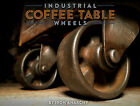ANTIQUE FACTORY CART CASTERS, Industrial Coffee Table Wheel Cast Iron Metal Vtg