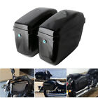 Motorcycle Hard Saddlebags + Mounting Kit for Indian Sportster Suzuki Honda 883