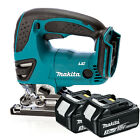 Makita 18v DJV180Z Cordless Jigsaw Li-Ion Body & 2x Makita BL1830 3.0Ah Battery