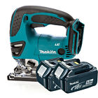 Makita 18v DJV180Z Cordless Jigsaw Li-Ion Body & 2x Makita BL1850 5.0Ah Battery