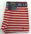 NWT Polo Ralph Lauren Men's Red & White Striped Traditional Length Boxer XL