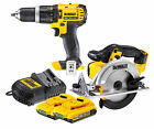 Dewalt DCD785 + DCS391 18V XR Combi Drill & Cir. Saw + 2 DCB183 + DCB105 Charger