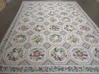 8' X 10' Hand Made French Aubusson Savonnerie Design Needlepoint Rug Nice