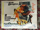 2 Weeks In Another Town 1962 MGM 22x28half sheet Kirk Douglas Cyd Charisse
