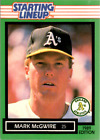 1989 Kenner Starting Lineup Cards #91 Mark McGwire - NM-MT