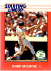 1988 Kenner Starting Lineup Cards #68 Mark McGwire - NM-MT