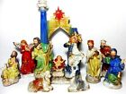 11 pc Elements Majolica Classic Holy Family Nativity Complete 12 Arch in Box