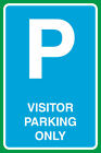 Visitor Parking Only Print Large Notice Parking Lot Work Sign- 4 Pack, 12x18