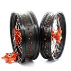 CUSH DRIVE 3.5/5.0*17  WHEEL RIM SET KTM640 LC4 03-06 KTM625 SMC 660SMC ORANGE