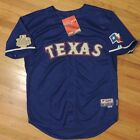 Texas Rangers Nelson Cruz Authentic Jersey Majestic 2011 World Series Blue Sz 52
