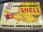 SHELL Lockheed Orion limited edition diecast airplane bank 1994 Model 4 w box